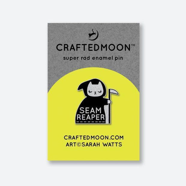 Seam Reaper Pin by CraftedMoon