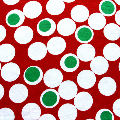 Large Christmas Polka Dot Cotton Lycra Knit Fabric
