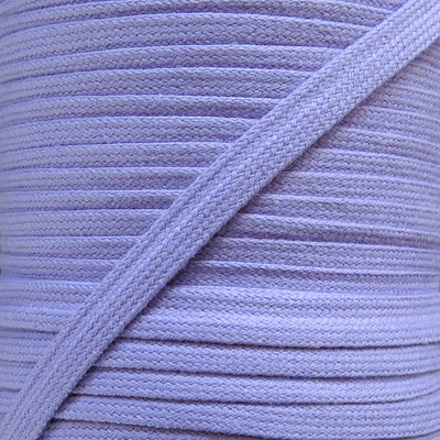 Lavender 3/8 Cotton Hoodie Drawstring Flat Tape