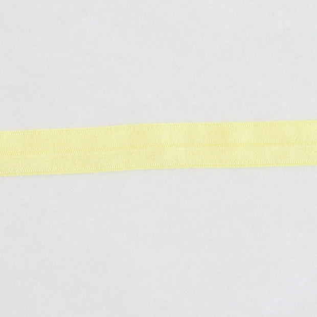 Lemon Chiffon Fold Over Elastic Trim