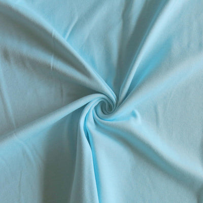Light Aqua Cotton Interlock Fabric