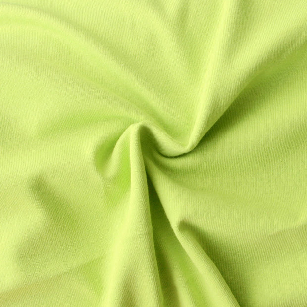 Light Green Tubular Cotton Jersey Knit Fabric