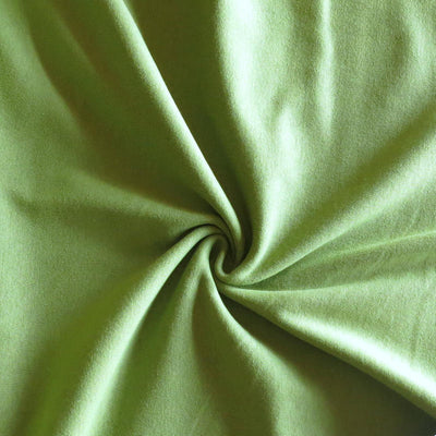 Light Olive Cotton Heavy Rib Knit Fabric