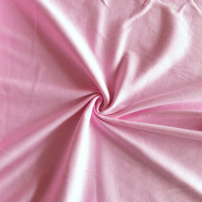 Light Pink 2x1 Cotton Rib Knit Fabric