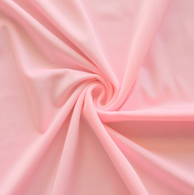 Light Pink Solid Nylon Spandex Tricot Specialty Swimsuit Fabric