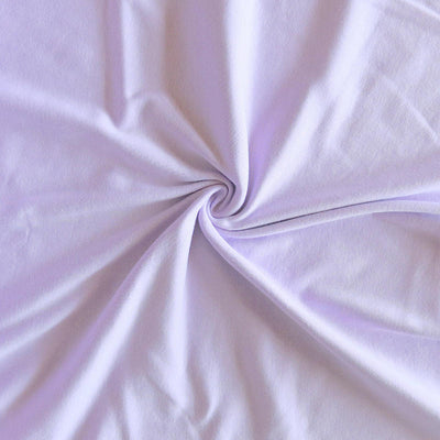 Light Purple Cotton Rib Knit Fabric