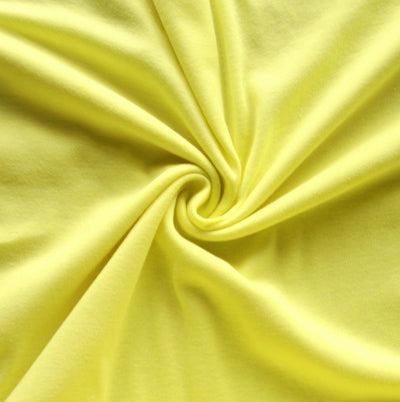 Light Yellow Cotton Rib Knit Fabric