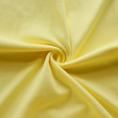 Light Yellow Cotton Interlock Fabric