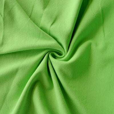 Lime Green 10 oz. Cotton Lycra Jersey Knit Fabric