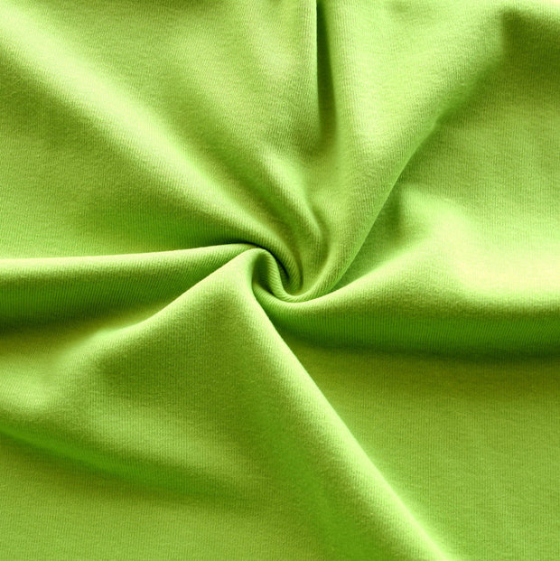 Lime Green Cotton Rib Knit Fabric