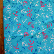 Little Anchors Nylon Lycra Swimsuit Fabric