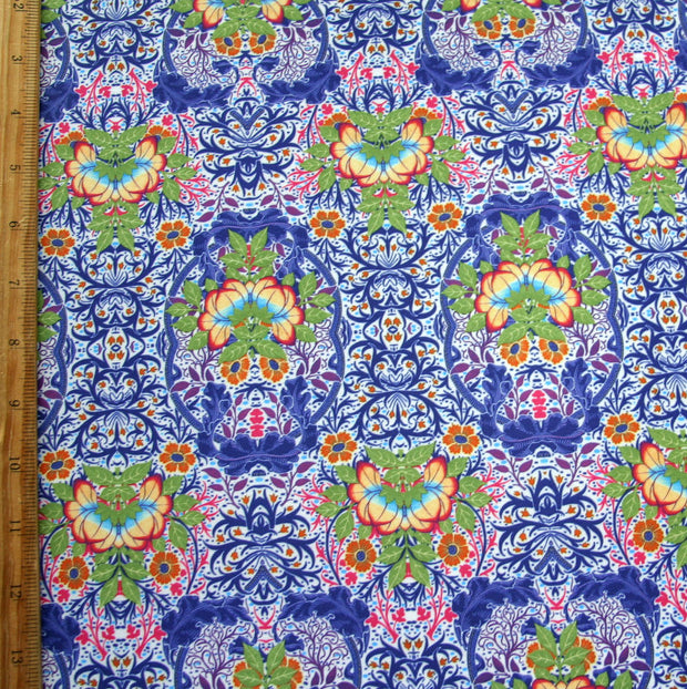 Lotus Paisley Nylon Spandex Swimsuit Fabric
