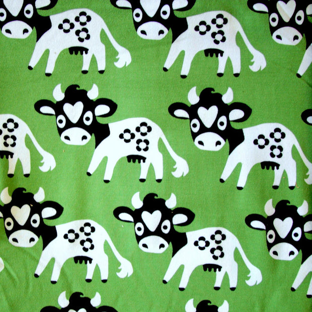 Lovely Cow Organic Cotton Lycra Knit Fabric by Mussukat