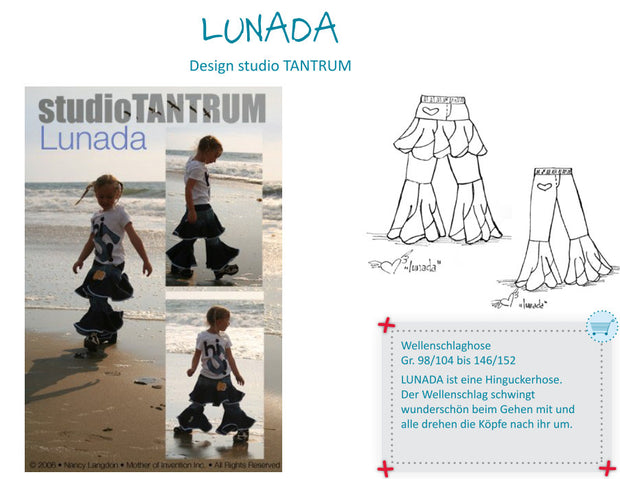 Lunada Flare Trousers and Skirty Pant Sewing Pattern by StudioTANTRUM
