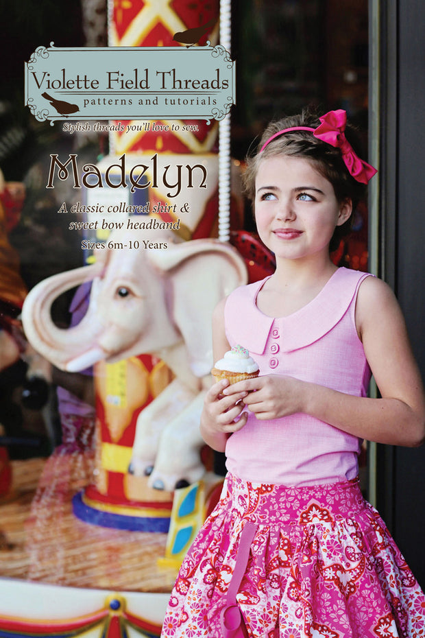 Madelyn Top & Headband Boutique Sewing Pattern by Violette Field Threads