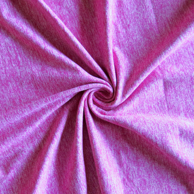 Magenta Heathered Marl Poly Lycra Jersey Knit Fabric