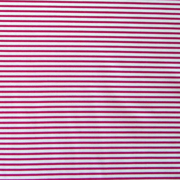 Magenta and Off White Micro Stripe Nylon Lycra Swimsuit Fabric