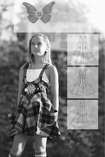 Malibu Overall Skirt Sewing Pattern by StudioTANTRUM