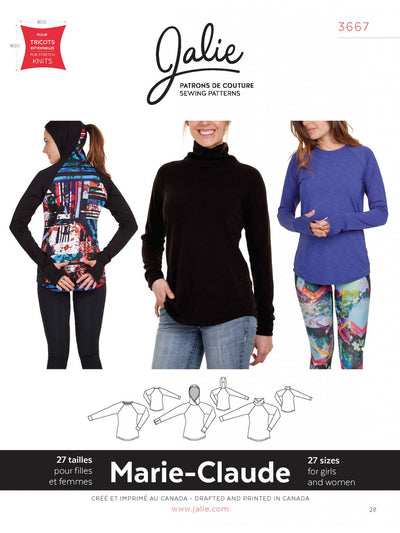 Marie-Claude Raglan Sewing Pattern by Jalie