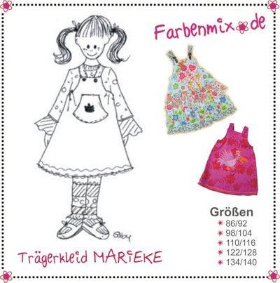 Marieke Jumper Dress Sewing Pattern by Farbenmix