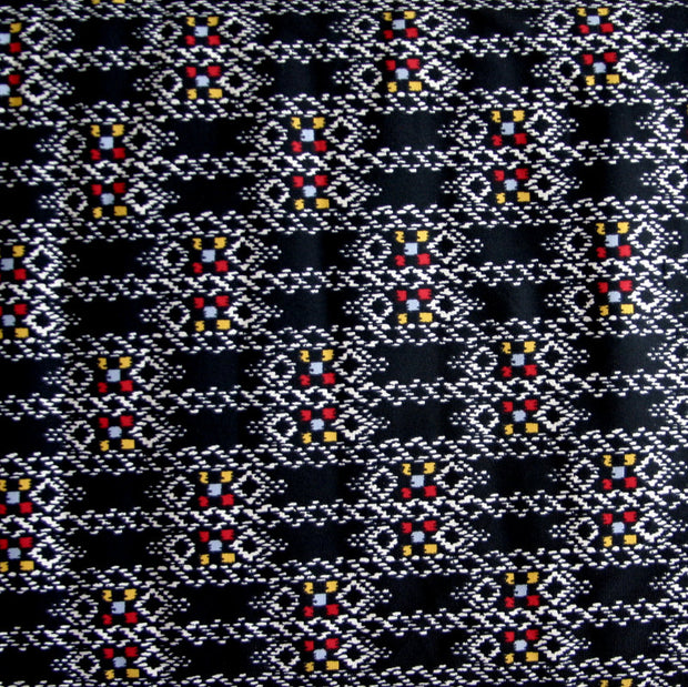 Matrix Squares Nylon Lycra Swimsuit Fabric