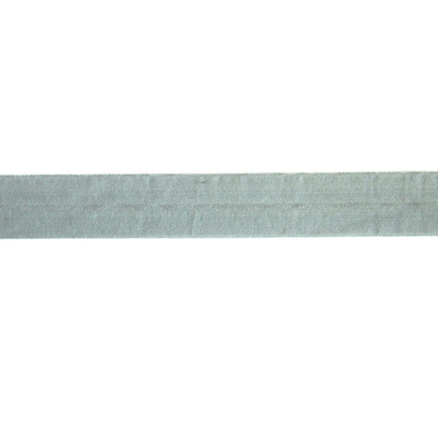 Nickel Grey Matte Fold Over Elastic Trim