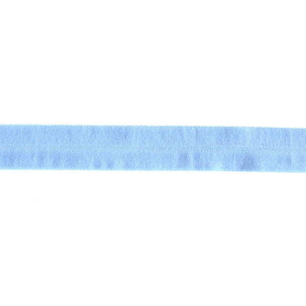 Cornflower Light Blue Matte Fold Over Elastic Trim