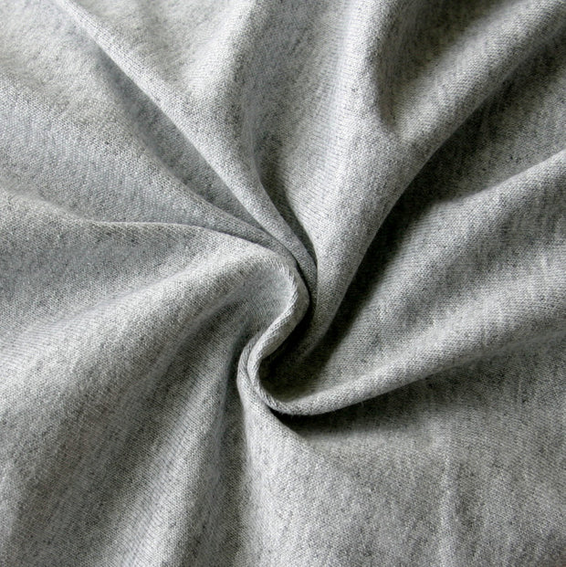 Medium Heathered Grey Cotton Jersey Knit Fabric