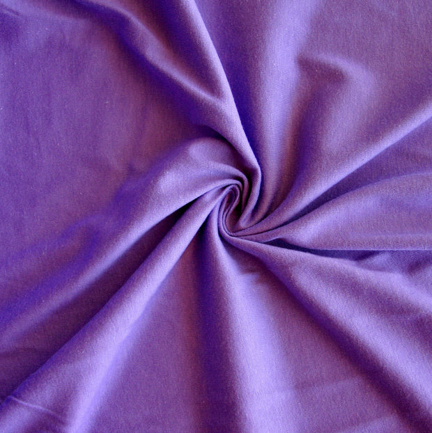 Medium Purple Cotton Jersey Knit Fabric by Anita G