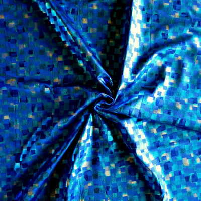 Metallic Pixels Nylon Spandex Swimsuit Fabric