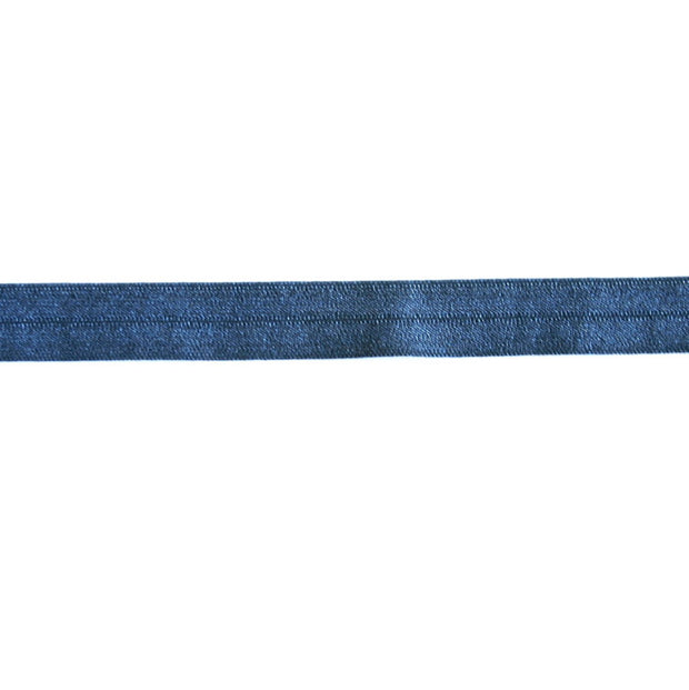 Midnight Blue Fold Over Elastic Trim