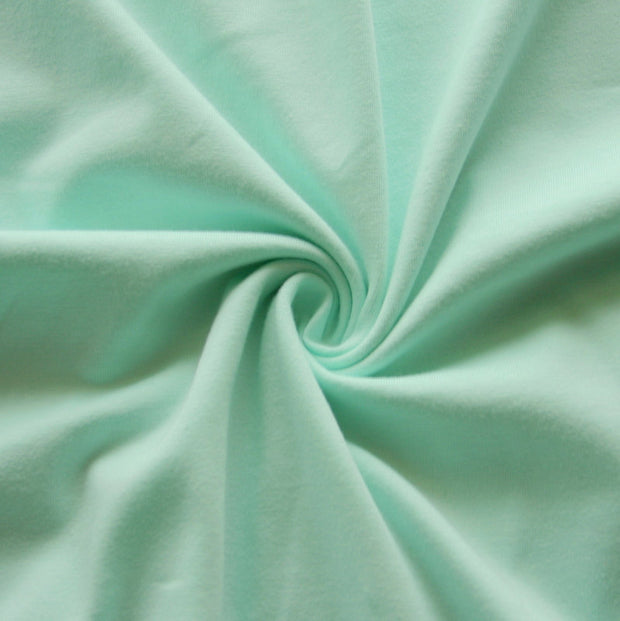 Mint Cotton Lycra Jersey Knit Fabric