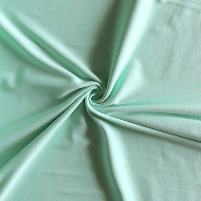 Mint Cotton Interlock Fabric