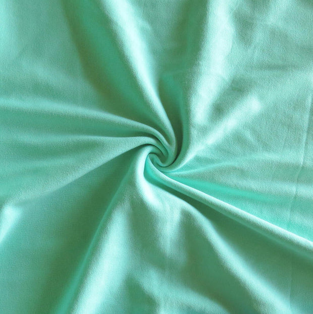 Mint Cotton Heavy Rib Knit Fabric