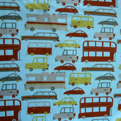 Modern Vehicles Cotton Interlock Fabric