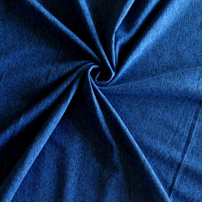 Moonlight Blue Marl Poly Spandex Jersey Knit Fabric