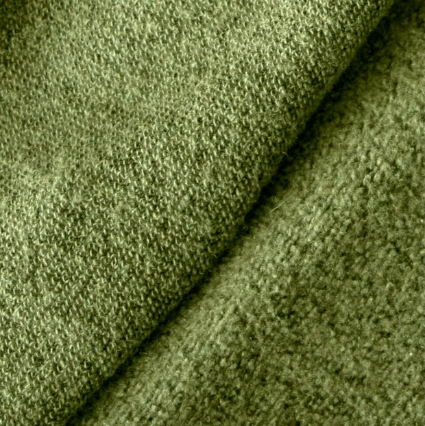 Moss Recycled Cotton Poly Fleece Fabric