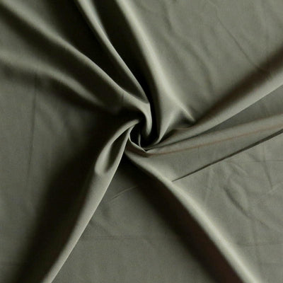 Moss Green Stretch Woven Fabric