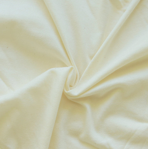 Natural Cotton Jersey Knit Fabric