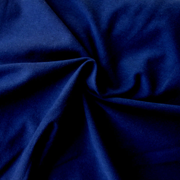 Navy Cotton Lycra Jersey Knit Fabric