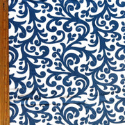 Navy Flourish Nylon Spandex Swimsuit Fabric