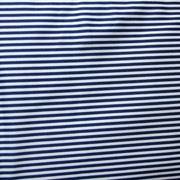 Navy/Off White Mini Stripes Nylon Lycra Swimsuit Fabric