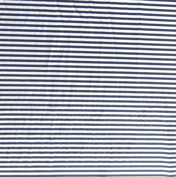 Navy and Pale Pink 1/8 inch Stripe Nylon Spandex Swimsuit Fabric