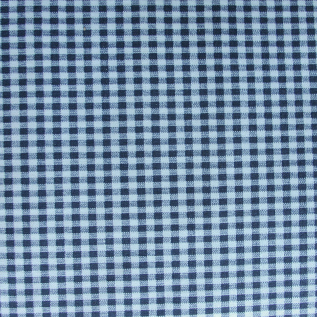 Navy and White Gingham Swimsuit Fabric