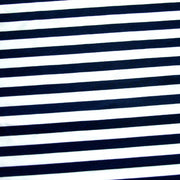 "Navy and White 3/8"" Stripe Nylon Lycra Swimsuit Fabric"