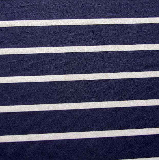 "Navy 7/8"" and White 2/8"" wide Stripe Nylon Lycra Swimsuit Fabric"