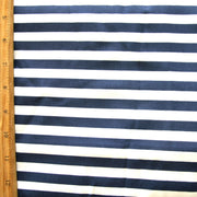 Navy and White Stripe Swimsuit Fabric - Seconds - Not Quite Perfect