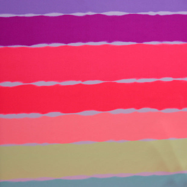 Neon Colorful Stripes Nylon Lycra Swimsuit Fabric