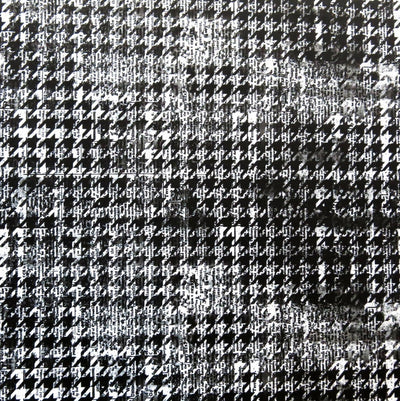 Newsprint Houndstooth Nylon Spandex Swimsuit Fabric