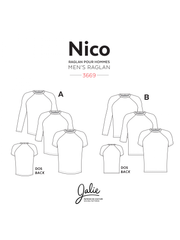 Nico Raglan Tee Sewing Pattern by Jalie